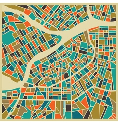 Saint Petersburg colourful city plan vector