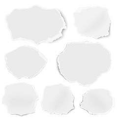 set of paper different shapes fragments isolated vector image
