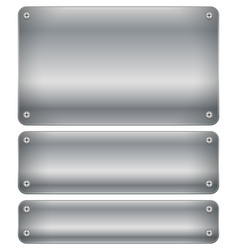 Set of shaded metal plates plaques with rivets vector