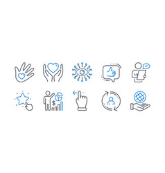 set people icons such as hold heart user info vector image