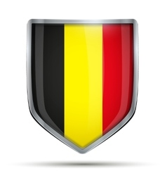 Shield with flag belgium vector