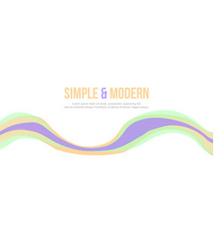 Simple and modern abstract background design vector