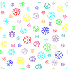 snowflake chaotic seamless pattern 411 vector image