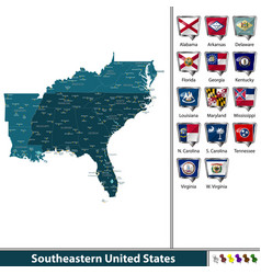Southeastern united states vector