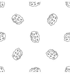 Space asteroid pattern seamless vector
