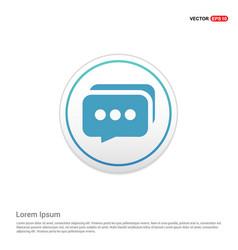 speech bubbles icon - white circle button vector image