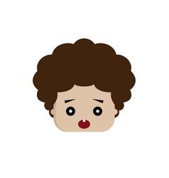square shape funny expression cartoon head vector image