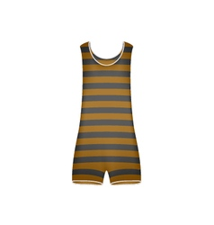 Striped retro swimsuit in brown and black design vector image
