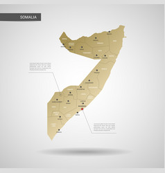 Stylized somalia map vector