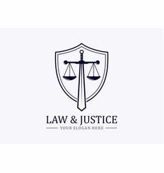 sword justice vector image