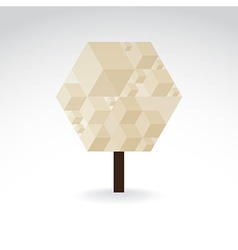 Symbolic tree vector image