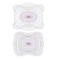two decorative guilloche rosettes vector image