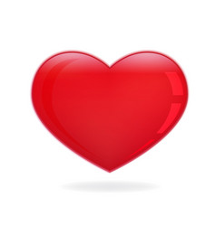 Valentine red heart icon vector