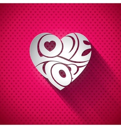 Valentines Day with 3d Love You vector image