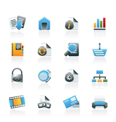 web site and internet icons vector image