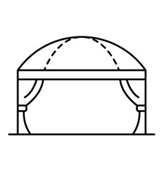 Wedding tent icon outline style vector