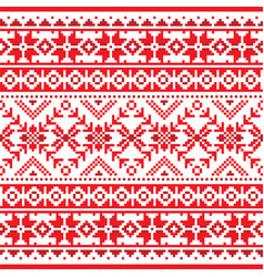 Winter and christmas fair isle seamless pattern vector
