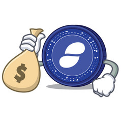 with money bag status coin character cartoon vector image