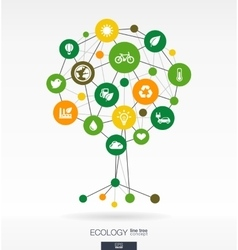 Abstract ecology background Growth tree concept vector image vector image