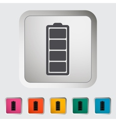 Full battery vector image vector image