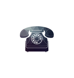 icon of a retro phone vector image