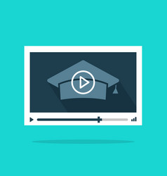 online video education concept of remote vector image vector image