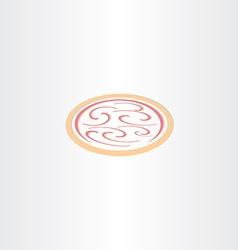 pizza icon logo vector image