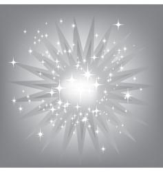 silver starburst vector image vector image