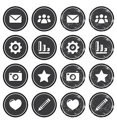Website menu navigation retro grunge labels vector image vector image