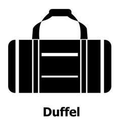 duffel icon simple black style vector image vector image