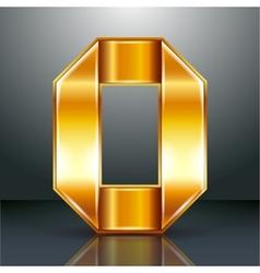 Letter metal gold ribbon - O vector image