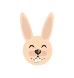cute face rabbit animal cheerful vector image