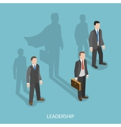Leadership isometric flat concept vector image vector image