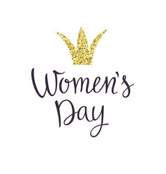 modern hand drawn lettering womens day vector image vector image