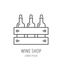 Simple Logo Template Wine Shop vector image vector image