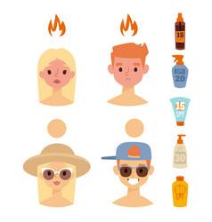 beach summer suntan characters lifestyle vector image