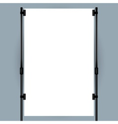 Blank banner display vector image
