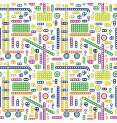 Colorful transport pattern vector image