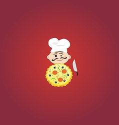 Cook with Tasty Pizza vector image