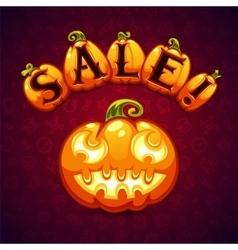 Halloween pumpkin sale banner vector