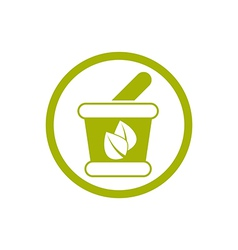 Mortar and Pestle icon isolated vector image