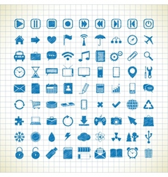 set of media icons in the style of the sketch vector image vector image