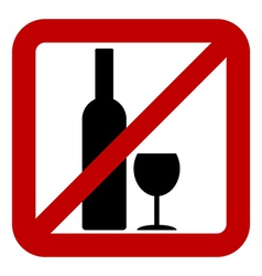 Sign of prohibition of alcohol vector image vector image