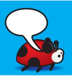 speech ladybird vector image vector image