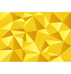 Yellow Gold Celebrate Polygon Background vector image