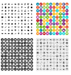 100 harmony icons set variant vector image