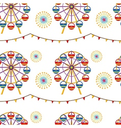 A seamless design with a carnival vector image