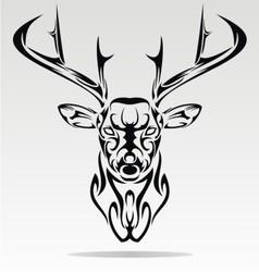 Abstract Deer Head vector image