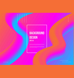 abstract fluid color pattern neon color liquid vector image