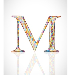 Abstract letter M vector image